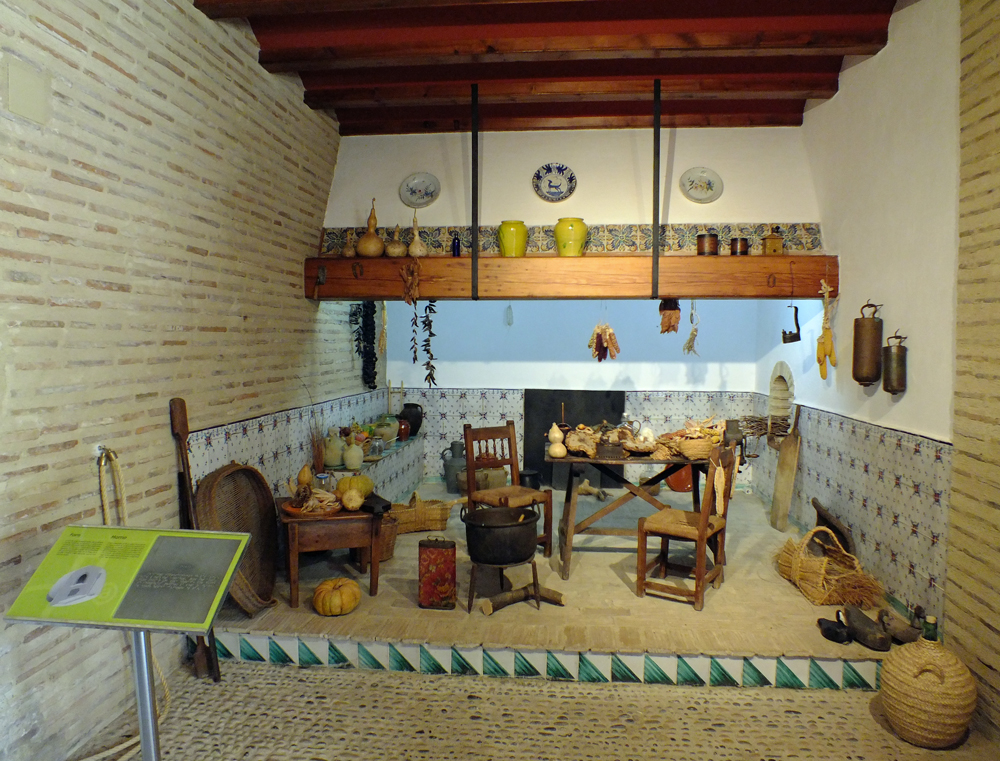 Traditional Valencian country kitchen