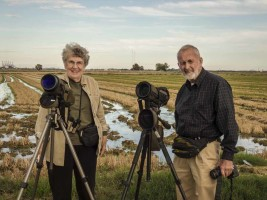 Birding with clients from USA.
